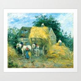 "Camille Pissarro ""The Hay Cart, Montfoucault"" Art Print"