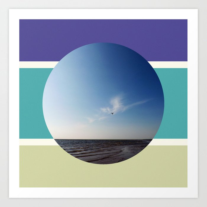 Sun Sea Sand Art Print
