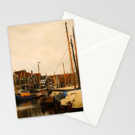 A gorgeous view on the old fishing port of Spakenburg Edit Stationery Cards