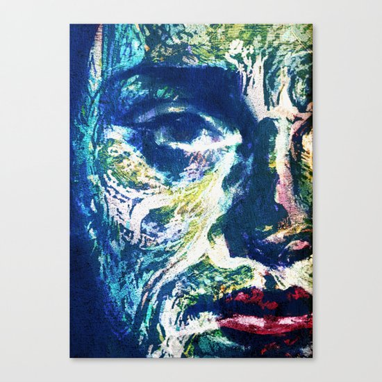Muddy Water Face Canvas Print