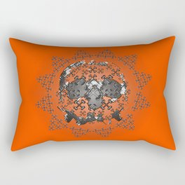 Skull and Crossbones Medallion Rectangular Pillow