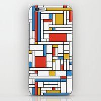 fibonacci iPhone & iPod Skins featuring Mondrian meets Fibonacci by Studio Fibonacci