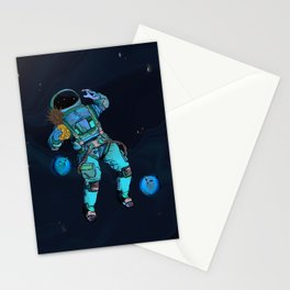Spacemans pineapple is on the loss Stationery Cards