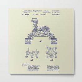 2013 NASA Mars Rover Curiosity Patent Metal Print