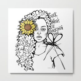 #STUKGIRL QUEEN Metal Print