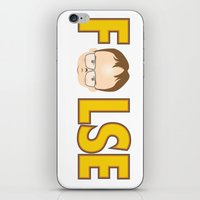 dwight schrute iPhone & iPod Skins featuring Dwight False by Alex Dutton