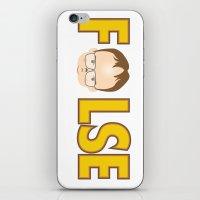 dwight schrute iPhone & iPod Skins featuring Dwight False by Alex Dutton