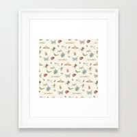 insects Framed Art Prints featuring Insects by Little Holly Berry