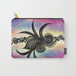 Spiral Feathers Carry-All Pouch