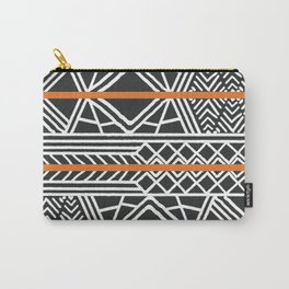 Tribal ethnic geometric pattern 022 Carry-All Pouch