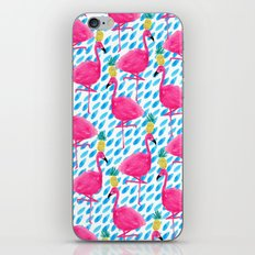 Party Flamingos iPhone & iPod Skin