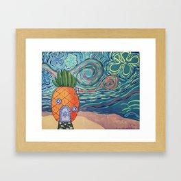 Spongey Night Framed Art Print