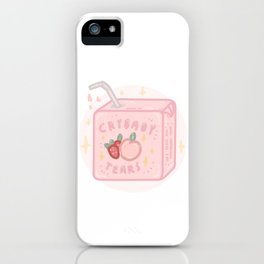 Peach&strawberry tears iPhone Case
