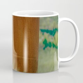 Rusted, Old Machine Part Abandoned In Field Coffee Mug