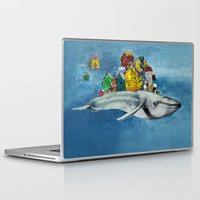 the whale Laptop & iPad Skins featuring whale by Кaterina Кalinich