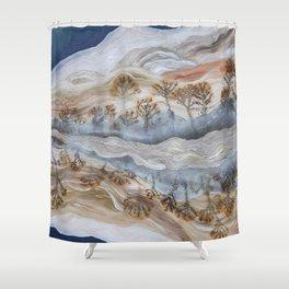 Dendrite Agate Shower Curtain