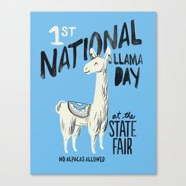 National Llama Day Canvas Print