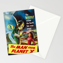 The Man From Planet X - Vintage Film Poster Stationery Cards
