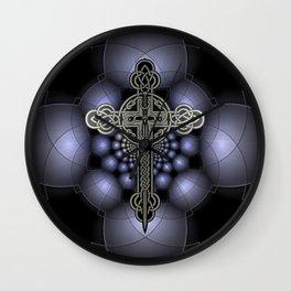 Celtic steel cross Wall Clock