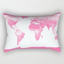 world mAp Pink Rectangular Pillow