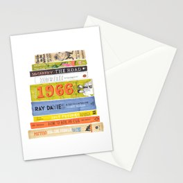 Reading Pile Stationery Cards