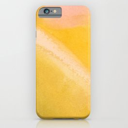 Marigold Sunset Abstract iPhone Case