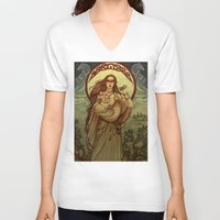 mother V-neck T-shirts featuring Mother by Natasa Ilincic