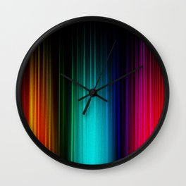 Color Reigns Wall Clock