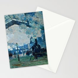 Claude Monet - Arrival Of The Normandy Train, Gare Saint Lazare Stationery Cards