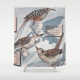 Wren exhibit Shower Curtain