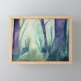 Fabricated Forest 01 Framed Mini Art Print