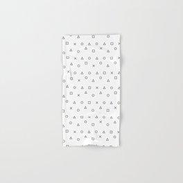 gaming pattern - gamer design - playstation controller symbols Hand & Bath Towel