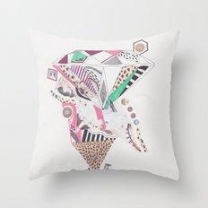 Leopard Diamond Paranoia Throw Pillow
