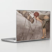 valentina Laptop & iPad Skins featuring valentina e l'improbabile telescopio by Mesailes by Germana Picchioni