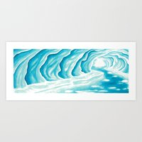 Ice Cavern Art Print