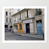 Afternoon in Le Marais, Paris Art Print