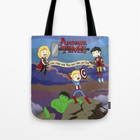 avenger Tote Bags featuring Avenger Time! by Det Guiamoy