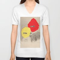 scales V-neck T-shirts featuring Scales by Naomi Vona