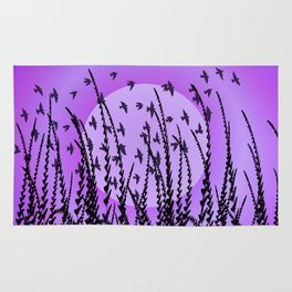 Sky, Sun & Birds (violet) Rug