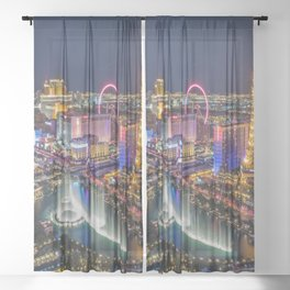 Las Vegs Strip Sheer Curtain