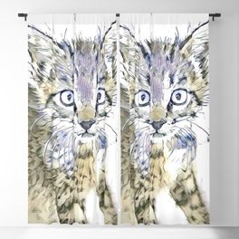 fascinating altered animals - Kitten Blackout Curtain