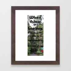 Systematic. Framed Art Print