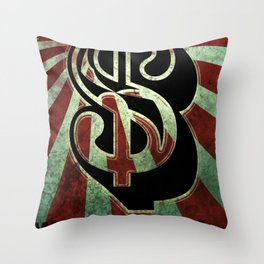 Sleeping for Dollars Throw Pillow