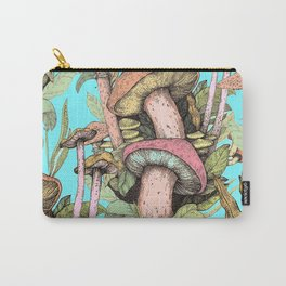 mushrooms in a blue sky Carry-All Pouch