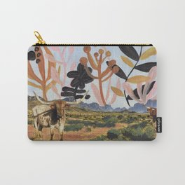 Texas Longhorns in Big Bend National Park Carry-All Pouch