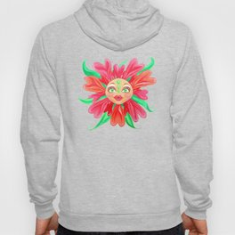 Flower with a Matryoshka Doll Face Hoody