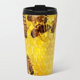 Honey Honeycomb Travel Mug