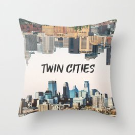Twin Cities Minneapolis and Saint Paul Minnesota Throw Pillow
