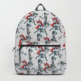 Vampire Bat Pinup Girl Backpack