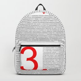 Pi – 3,14 – Red Backpack